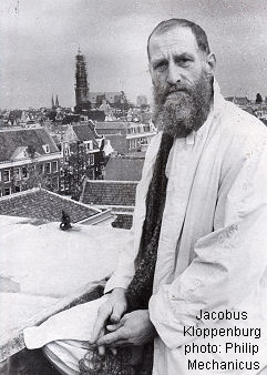 Jacobus Kloppenburg on his Amsterdam rooftop, photo Philip Mechanicus
